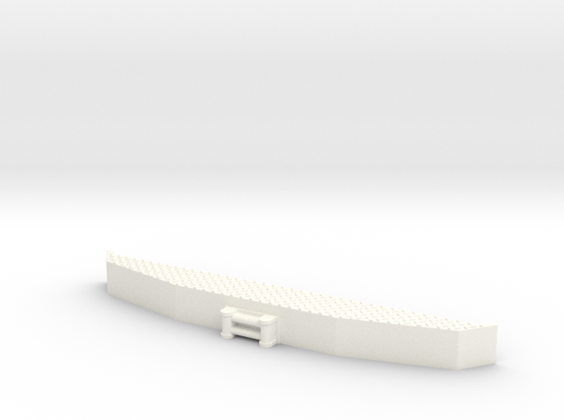 USA-1  FRONT BUMPER in White Processed Versatile Plastic