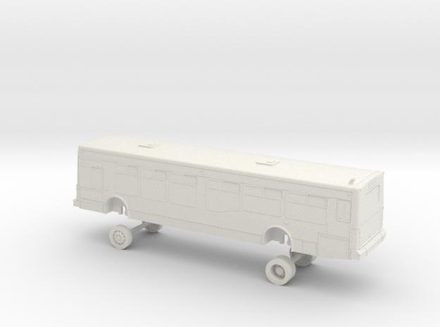 HO Scale Bus NABI 40-LFW AC Transit 4001-4021 in White Natural Versatile Plastic