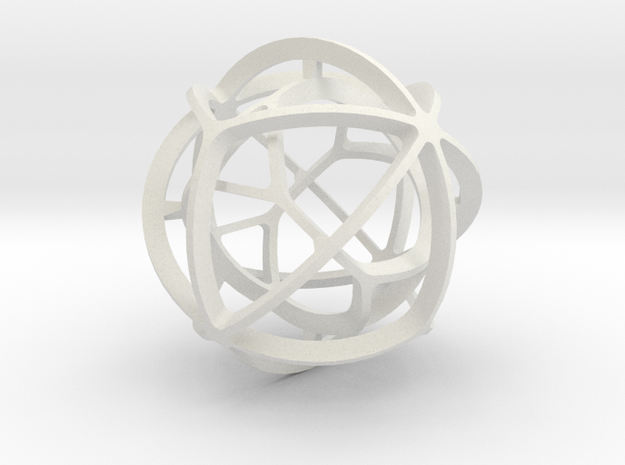 DUAL PAIR No. 1 in White Natural Versatile Plastic