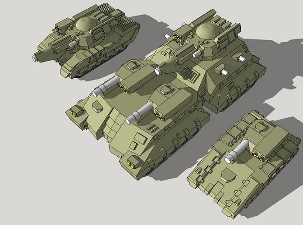 3mm Team Kukri Superheavy Tanks (2pcs)