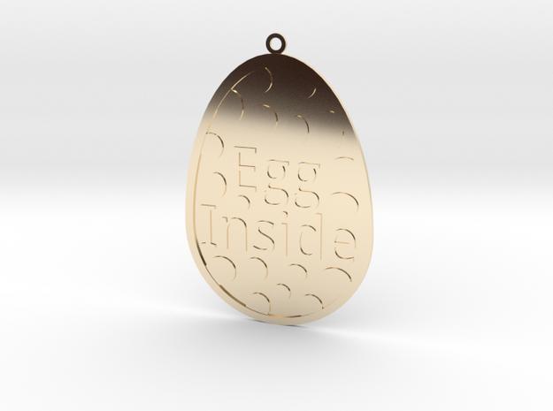 Egg Inside in 14k Gold Plated Brass