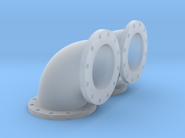 14mm Diameter 90 degree Elbow - 2 pack in Smooth Fine Detail Plastic