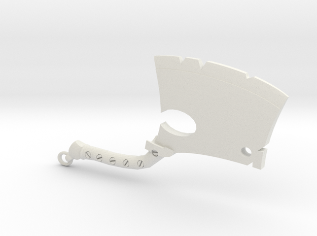 Hillbilly Devils Axe in White Natural Versatile Plastic