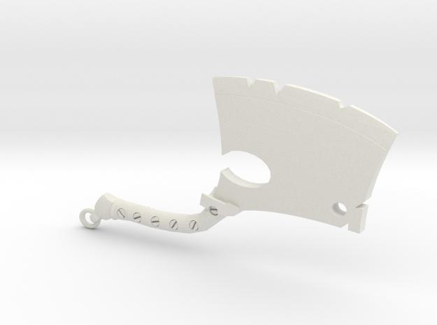 Hillbilly Devils Axe in White Natural Versatile Plastic