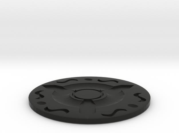 Water coasters in Black Natural Versatile Plastic