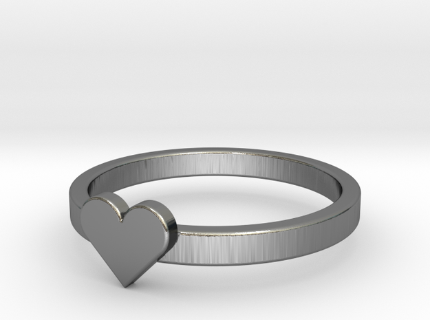 Heart Ring in Premium Silver