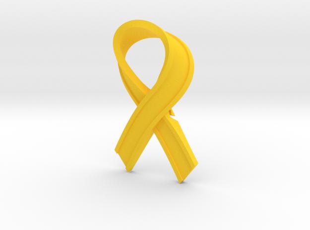 Yellow_Ribbon in Yellow Processed Versatile Plastic