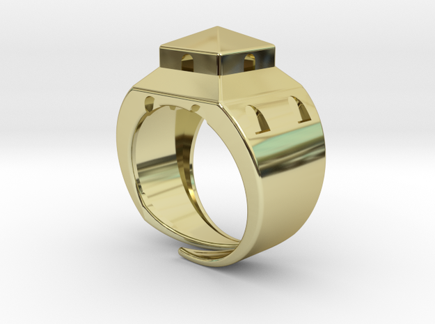 Anello LB in 18k Gold Plated