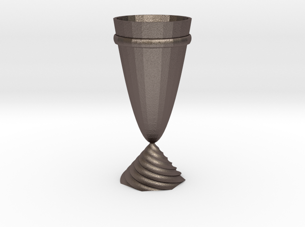 cup in Polished Bronzed Silver Steel: Medium