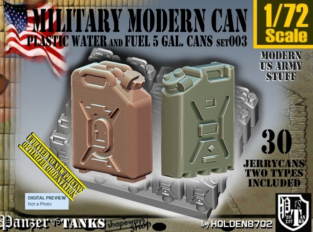 1/72 Modern Military FUEL+WATER Can Set003