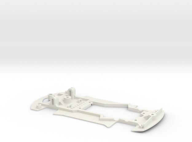 Chassis for NSR Corvette C7R (Slot.It motor pod) in White Natural Versatile Plastic
