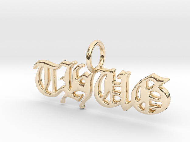 THUG Pendant in 14k Gold Plated Brass