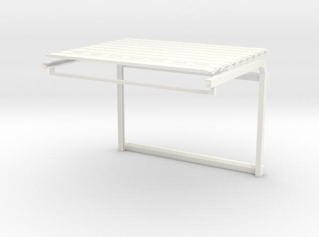 1/64 Overhead Door 26w x 18h (4.875w x 3.375h) Kit in White Processed Versatile Plastic