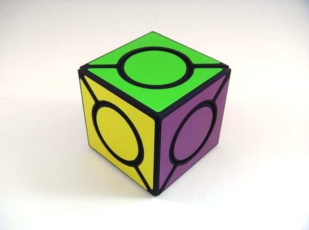 Six Spot Cube in White Natural Versatile Plastic