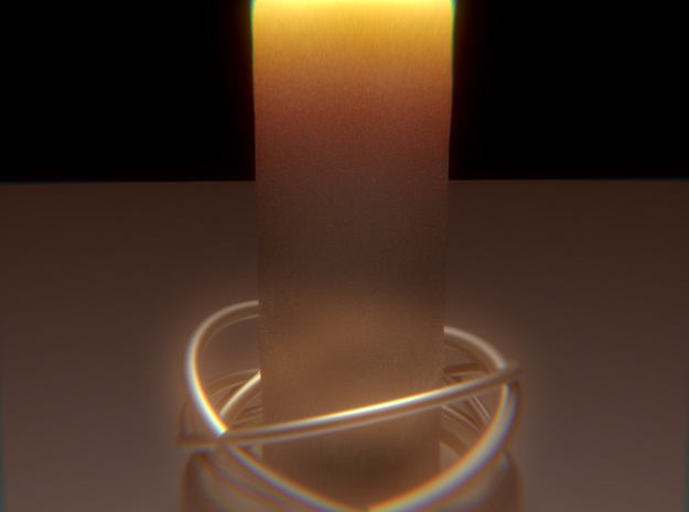 Orbital Candle Holder in White Natural Versatile Plastic