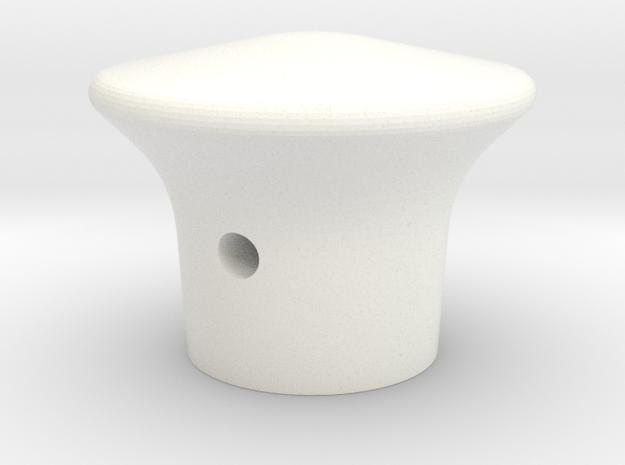 T34 Blaupunkt radio knob (short type) in White Processed Versatile Plastic