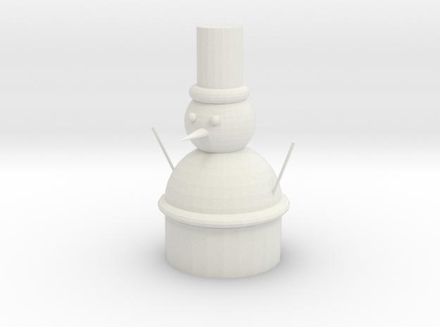 雪人 in White Strong & Flexible: 6mm