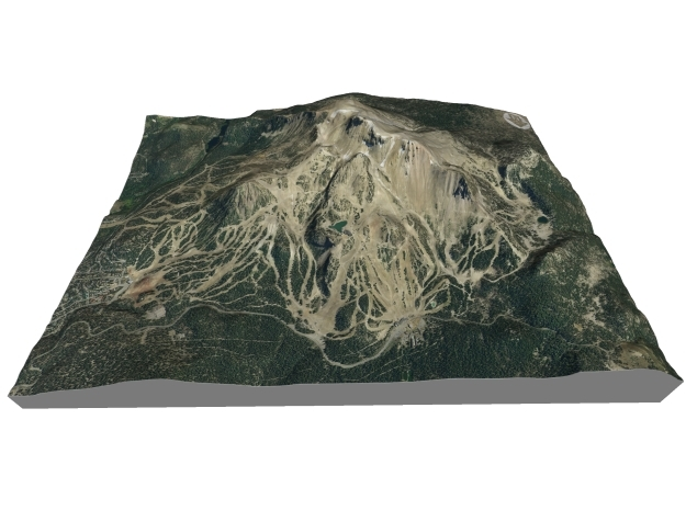 """Mammonth Mountain - Summer: 5""""x7"""" in Full Color Sandstone"""