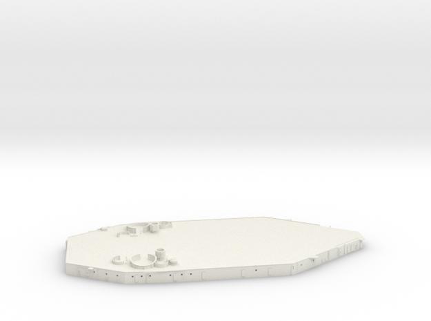 1/192 USN BB59 Superstructure Level 1 in White Natural Versatile Plastic