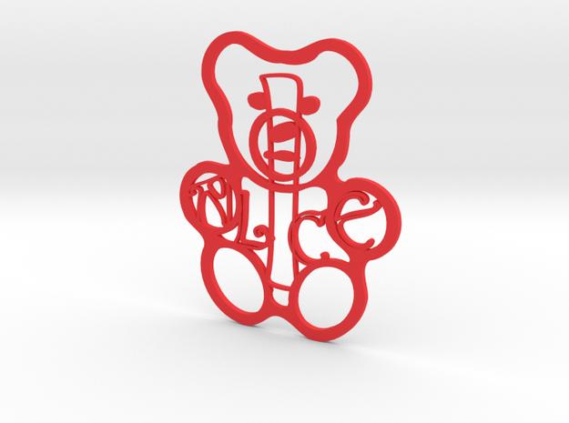 Personalised Teddy Bear - Alice in Red Processed Versatile Plastic