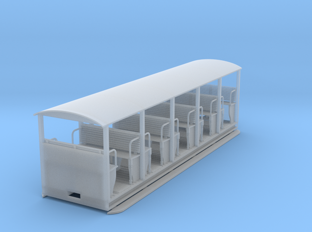"RAR Open ""toastrack"" Coach in Smooth Fine Detail Plastic: 1:43.5"