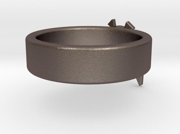 Zelda Navi Ring in Polished Bronzed Silver Steel