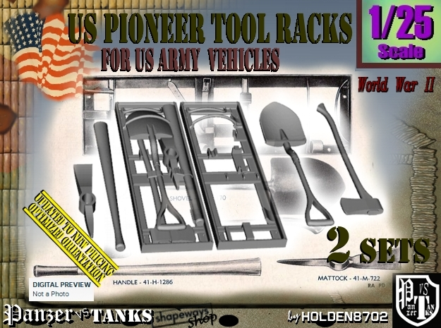 1/25 US Pioneer Tool Rack Set101 in Frosted Ultra Detail