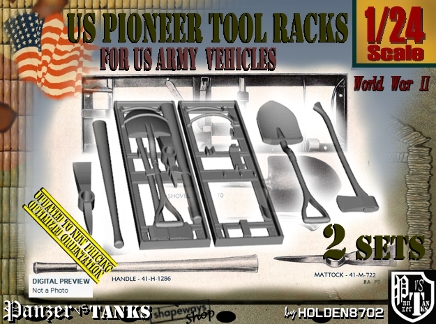 1/24 US Pioneer Tool Rack Set101 in Frosted Ultra Detail