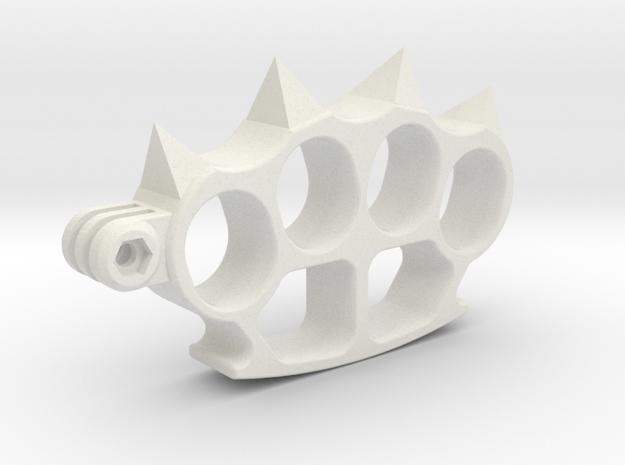 Gopro aggressive support in White Natural Versatile Plastic
