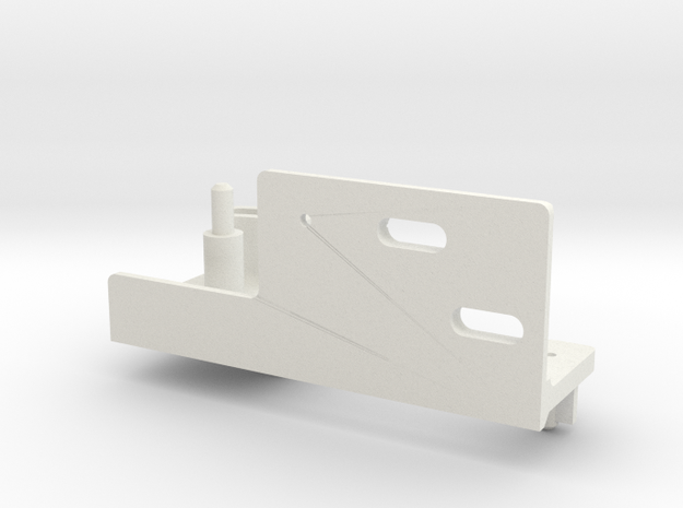 Railroad point, switch, turnout Servo Bracket x 1 in White Natural Versatile Plastic