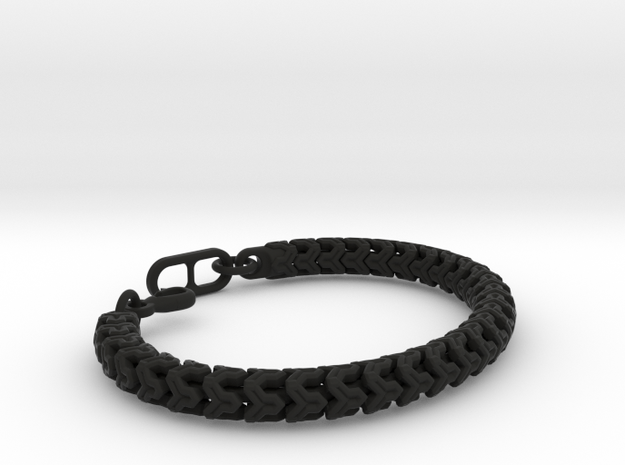 Y-LINK BEAD BRACELET 12-4-17 in Black Natural Versatile Plastic