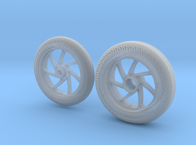 Rims & tires MotoGP 1/12 - Front & Rear in Smooth Fine Detail Plastic