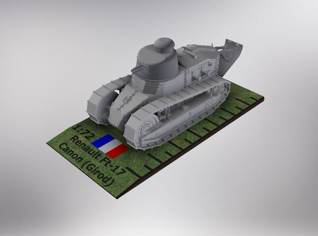 1/72nd scale Renault Ft-17 Char Canon (Girod) in Smooth Fine Detail Plastic