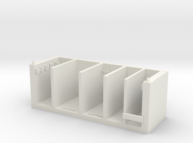 Stationery classification box in White Natural Versatile Plastic