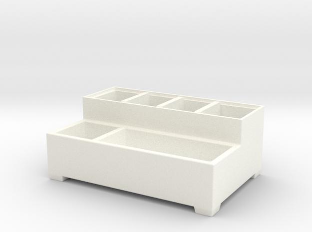 Parts box body in White Processed Versatile Plastic