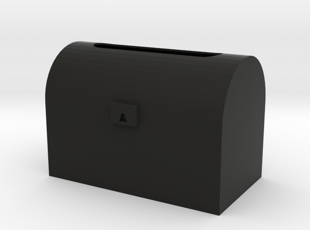 treasure chest toilet paper box in Black Natural Versatile Plastic