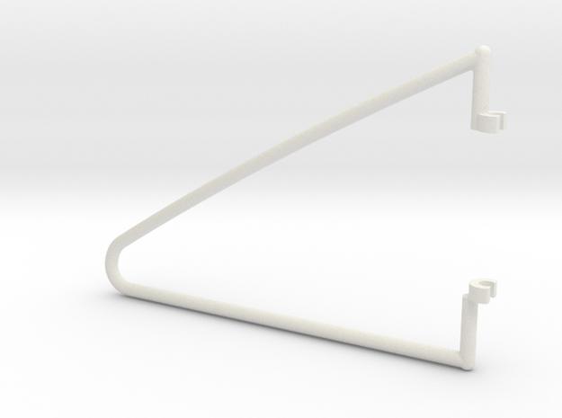 fold  hanger right in White Natural Versatile Plastic