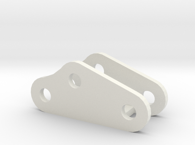 Longer mount leaf spring mount D90 Gmade Sawback in White Natural Versatile Plastic