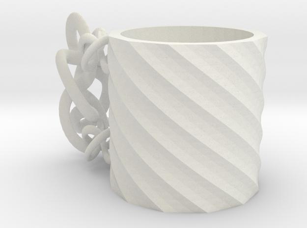 Deformed mug in White Natural Versatile Plastic