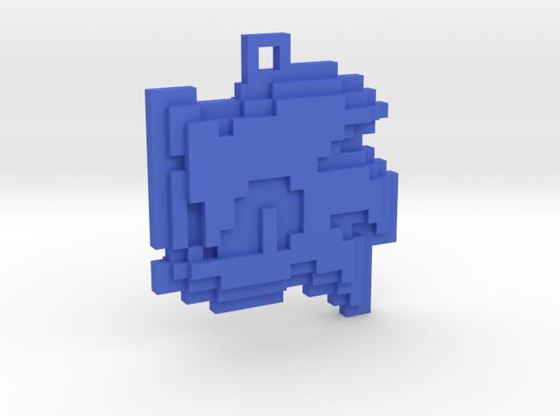 Sonic Rush - Sonic Lives Icon Pendant in Blue Processed Versatile Plastic