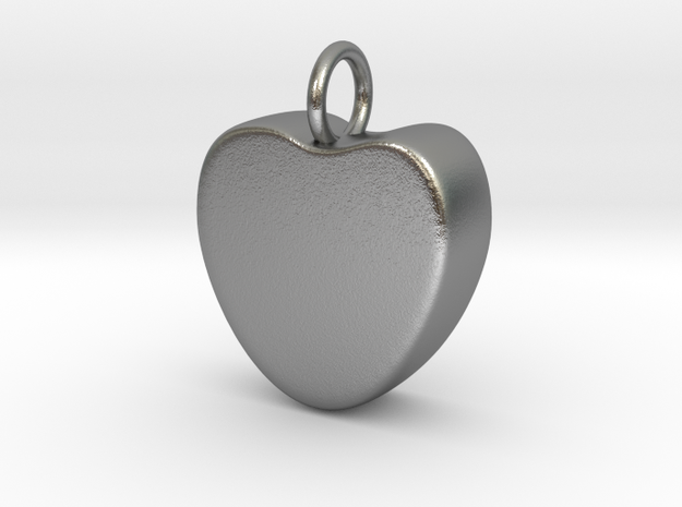 Candy Heart Pendant in Natural Silver
