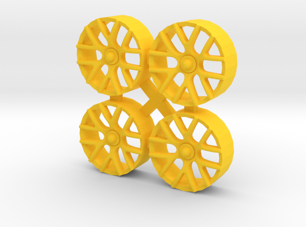 "Insert for wheel NSR 17"" (Type C7R GT3) in Yellow Processed Versatile Plastic"