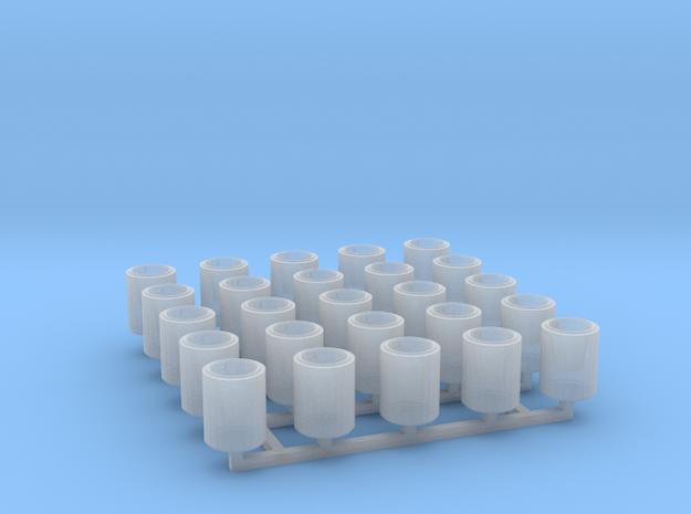 Betonpapierkorb rund, DDR, 1:87, 25 Stück in Frosted Ultra Detail