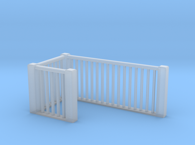 HO Scale upper railings 2 in Smoothest Fine Detail Plastic