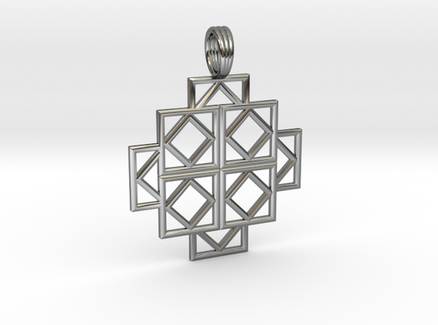 SQUARE DEALS in Fine Detail Polished Silver
