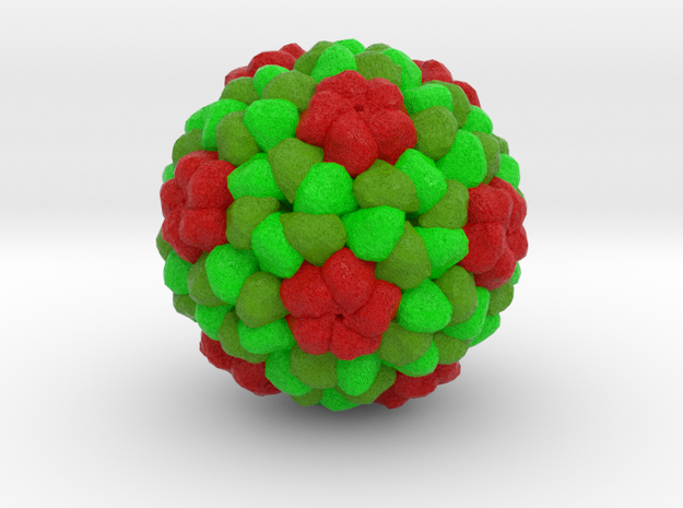 Tomato Aspermy Virus in Full Color Sandstone
