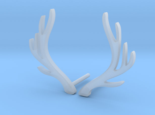 Antlers earrings in Smooth Fine Detail Plastic