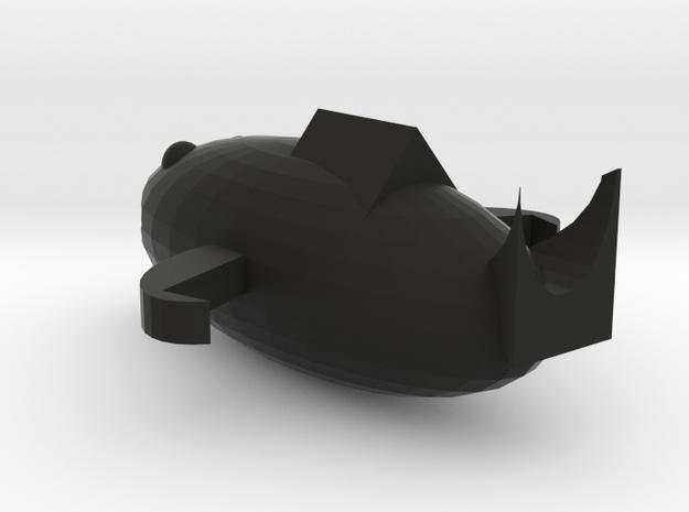 Shark in Black Premium Versatile Plastic