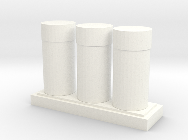 Cosmetic bottle cans in White Processed Versatile Plastic