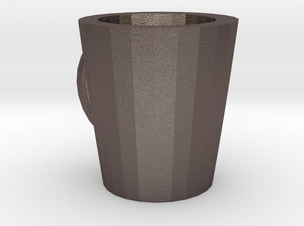 Mug in Polished Bronzed Silver Steel